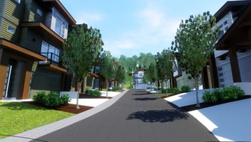 Exterior rendering street view pngo4x