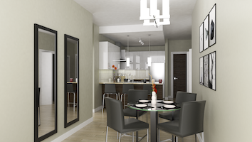 5408 2 bed dining kitchen