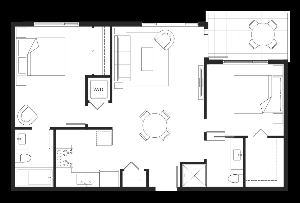 Eternity 2-bedroom floorplan.