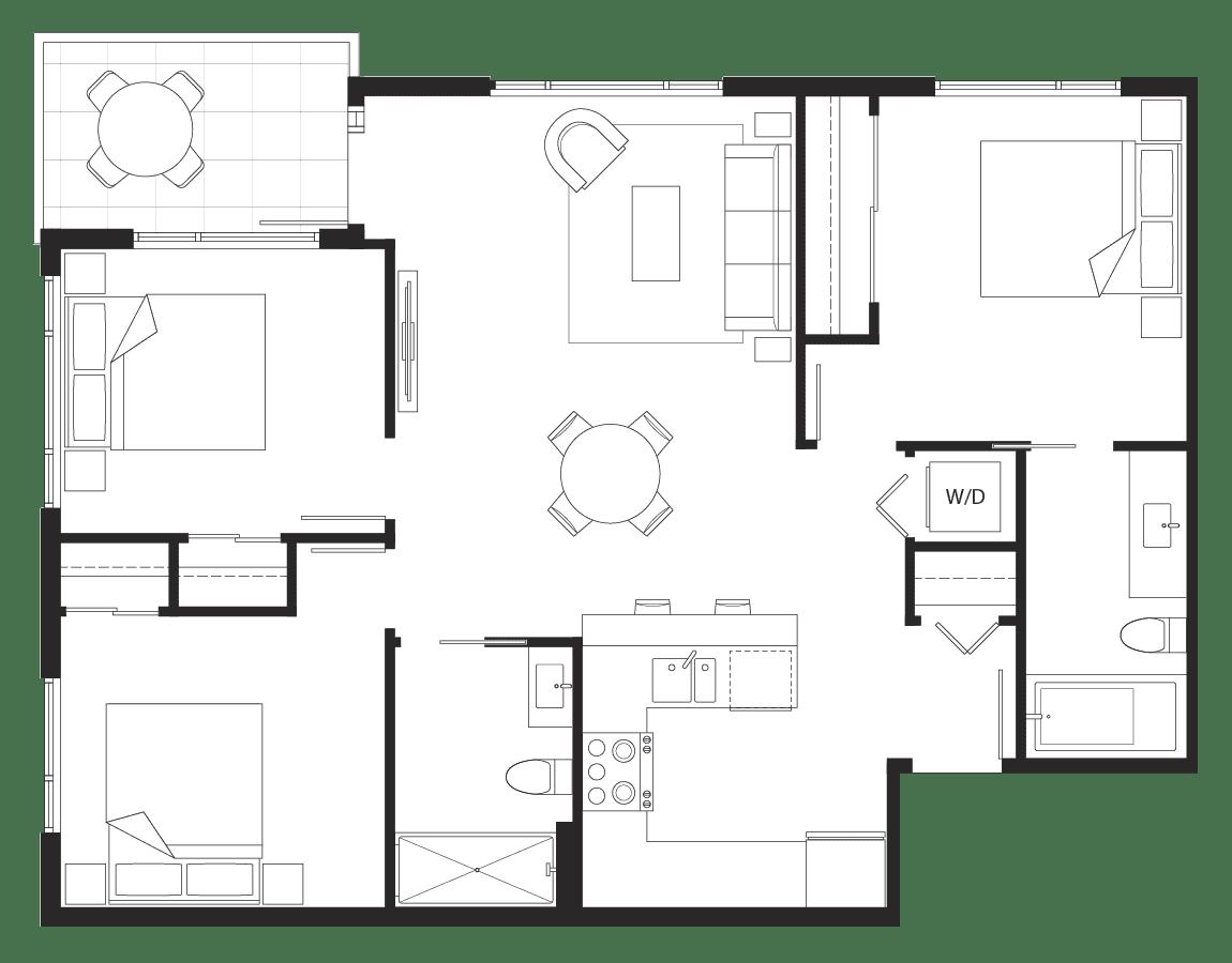 Eternity: 3-bedroom floorplan.
