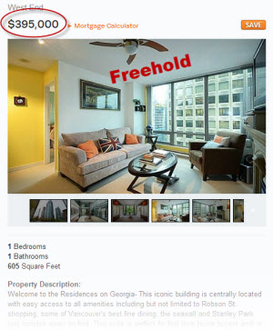 Freeehold condo in Vancouver's West End