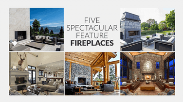 Five Listed Homes with Spectacular Feature Fireplaces