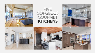 Five Listed Homes with Gorgeous Gourmet Kitchens