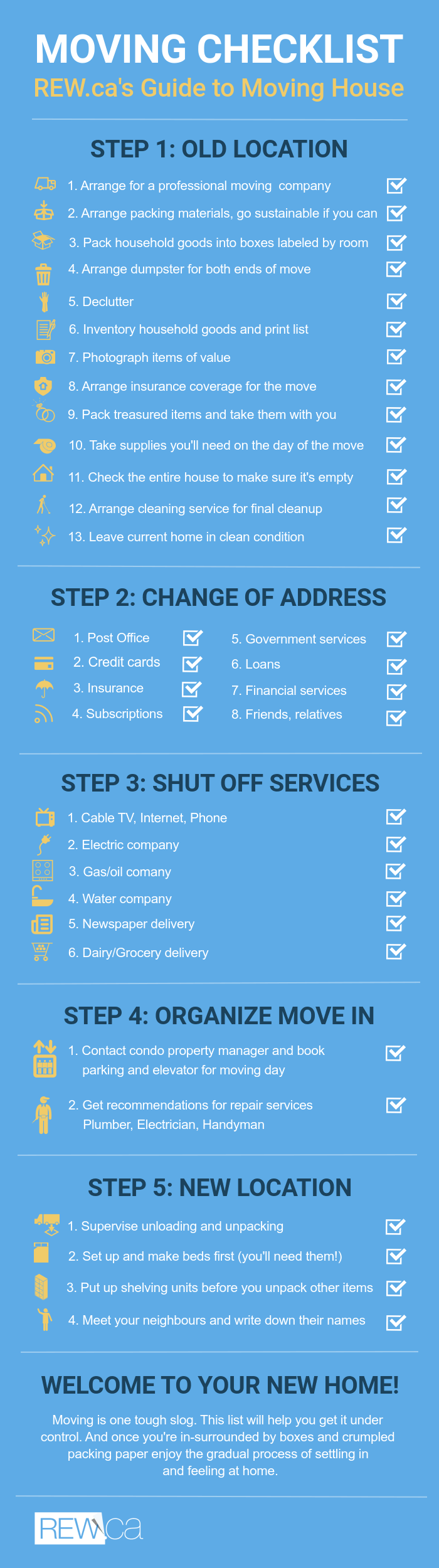 REW Moving Checklist