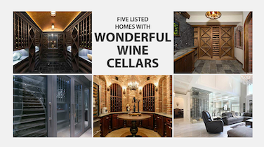 Five Listed Homes with Wonderful Wine Cellars