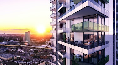Explore Spacious Highrise Living in Bustling Downtown Surrey