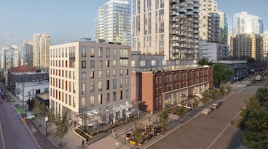 At the corner of Robson and Cambie, Amacon's Block characterizes city living at its best