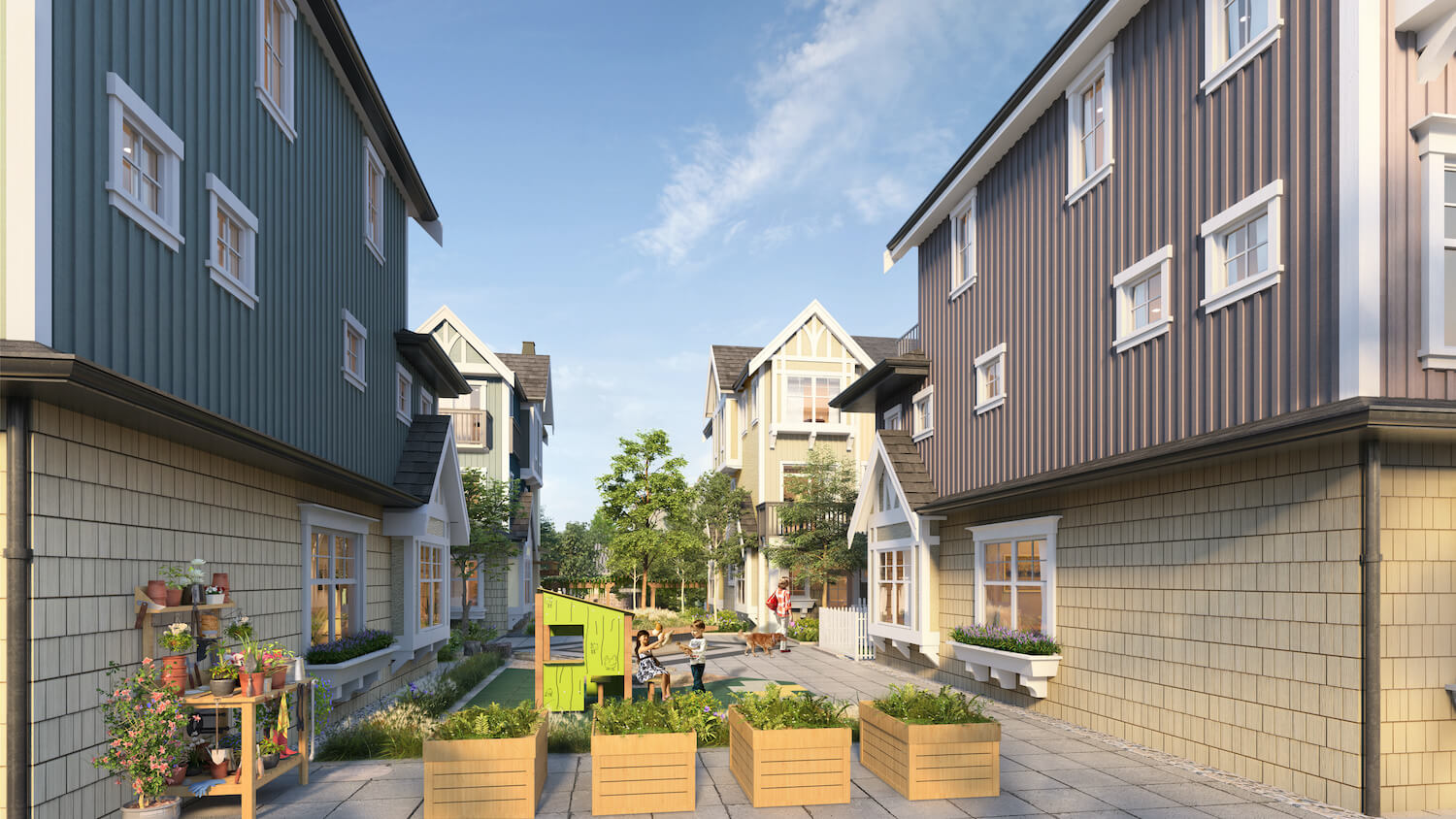 The Robinsons Courtyard Rendering